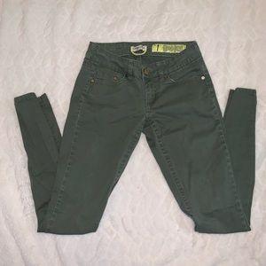 Khaki green indigo rein jeans